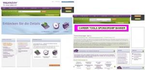 Monster Karriere-Vergleich