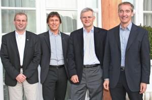 tecops personal gmbh Management: Von links nach rechts: Ludwig Hank, Reiner Pientka, Hermann Stehlik und Walter Hündl