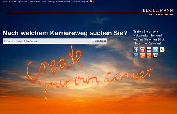 Bertelsmann Karriereseite