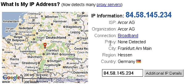 GeoLocation: Internet Service Provider mit dynamsicher IP-Adresse