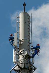 Telekom-Arbeitsplatz 4G-Techniker
