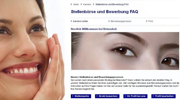 Karrierewebseite der Beiersdorf AG
