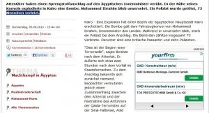 Spiegel Online mit Einblendung von Yourfirm.de nach Real-Time-Bidding