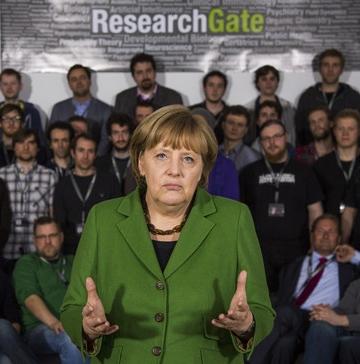 ResearchGate Angela Merkel Besuch