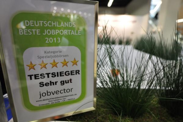 Gütesiegel 2013: jobvector ist Deutschlands beste Spezialjobbörse