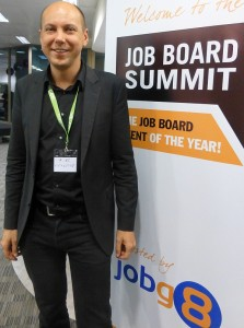 Jakub Zavrel beim Job Board Summit 2013 in London