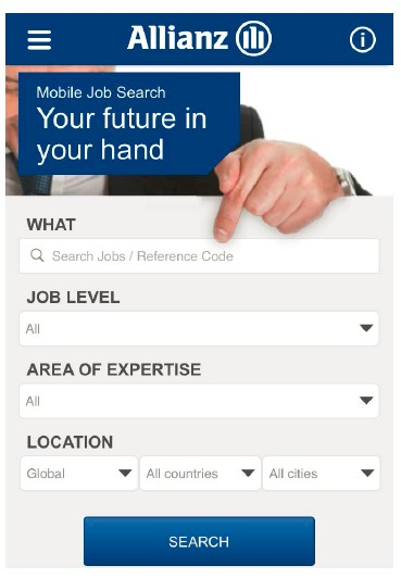Allianz Mobile Recruiting: Simple Search