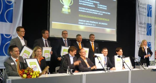 Preisverleihung: Deutschlands beste Jobportale - Messe Zukunft Personal 2012