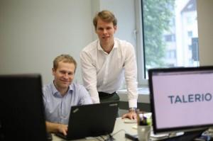 Talerio-Gründer (links: Daniel Barke, rechts: Marlon Lutz-Rosenzweig