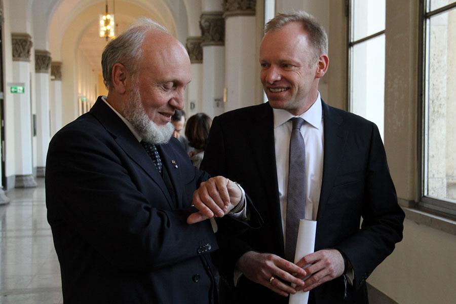 Hans Werner Sinn, Clemens Fuest, ifo (Quelle: Romy Vinogradova, ifo)