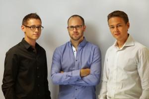 Die Vicampo-Gründer Felix Gärtner (26), Daniel Nitz (27) und Max Gärtner (31) (v.l.n.r.)