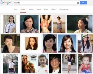 """Trefferliste der Google Bildersuche nach """"Xiao Fu"""" (kleines Glück)"""