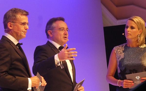 Klaus Mantel, Dr. Christian Göttsch und Moderatorin Claudia von Brauchitsch