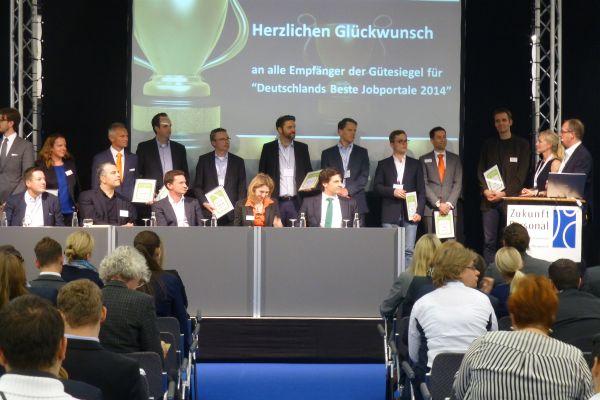 "Die Sieger ""Deutschlands beste Jobportale"" - Preisverleihung Zukunft Personal 2014"